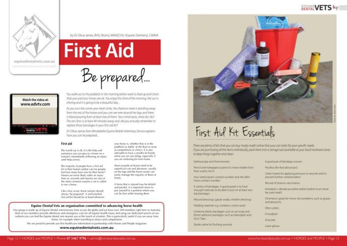 First Aid - Be Prepared