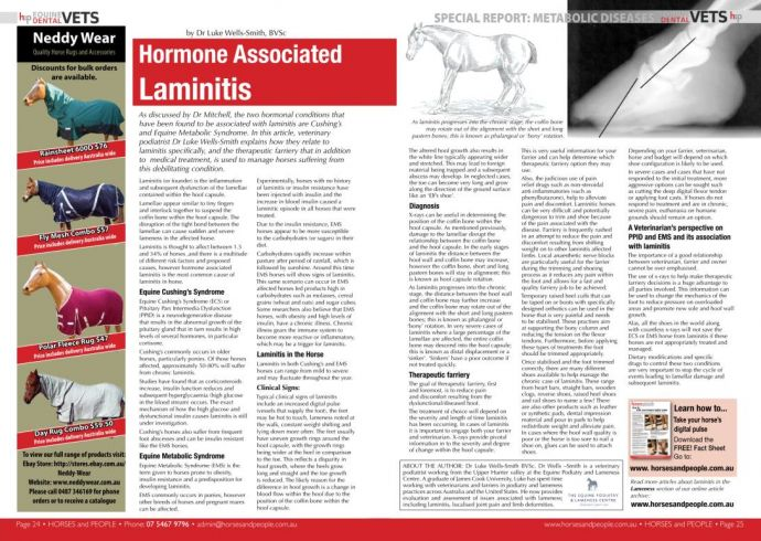 Hormone Associated Laminitis