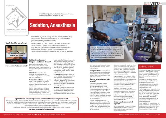 Sedation, Anaesthesia