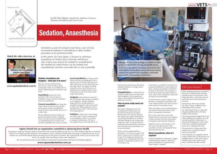 Sedation, Anaesthesia