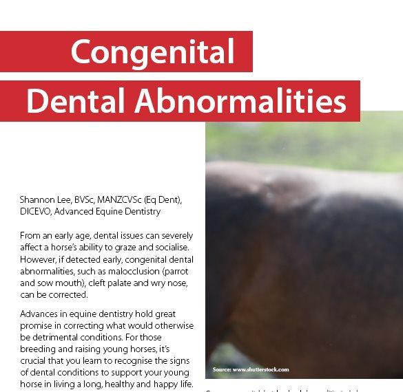 Congenital Dental Abnormalities